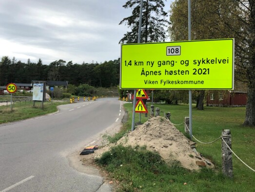 Gang- og sykkelveien åpner ikke før 31. mai 2022