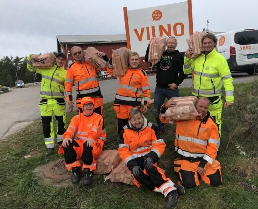Viuno Hvaler venter på ny forsyning med småsekker fra Baltikum